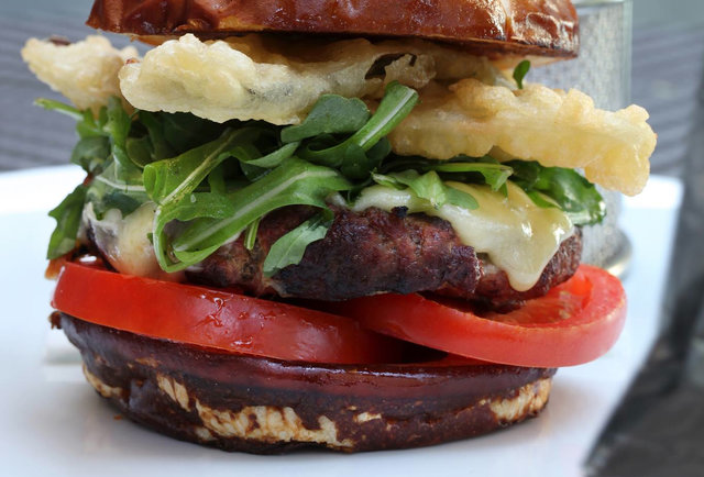 a burger by Dakota Weiss